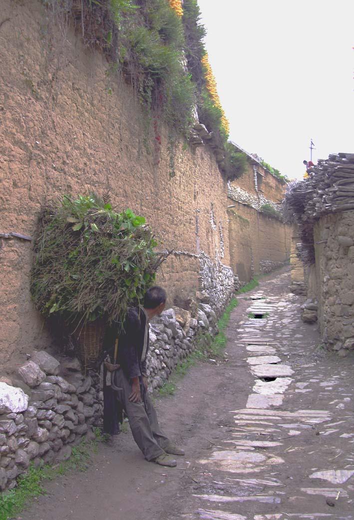 藏族碉房简笔手绘