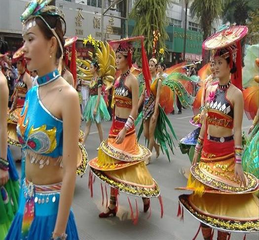 傣族女子生活照片