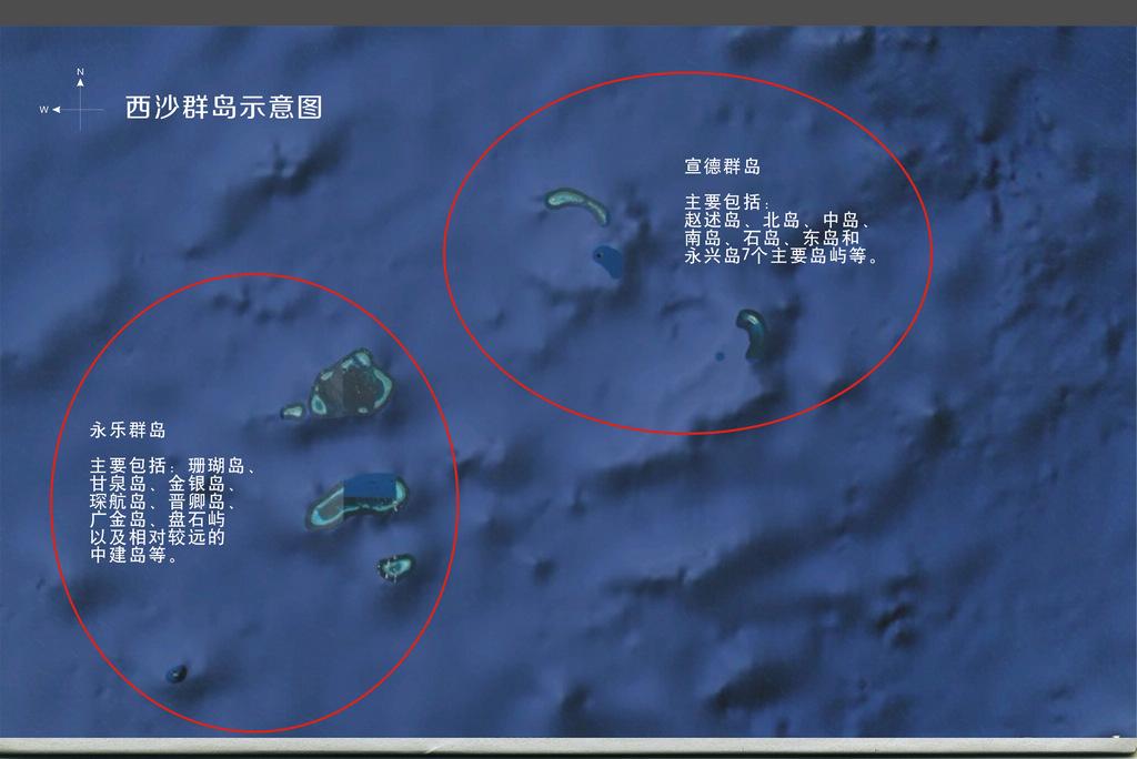 西沙群岛分布概图
